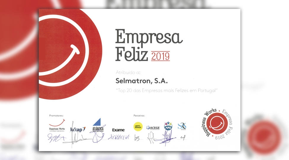 Selmatron no TOP20 de empresas mais felizes de 2019